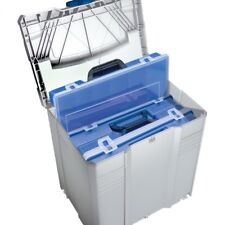 TANOS Sortimentbox-systainer® T-loc V   lichtgrau mit 4 Sortimentboxen  blau