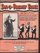 Sax O Phoney Blues 1921 Mamie Smith Sheet Music