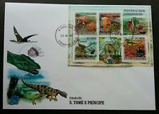 Sao Tome Dinosaurs And Minerals 2000 Prehistoric Stone (miniature FDC B) *rare
