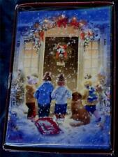 Trimming Traditions 18ct Christmas Cards with Envelopes - Young Carolers - New