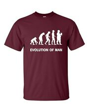 Evolution Of Man Fat Guy Beer Drinking Funny College Men's Tee Shirt