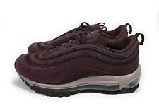 Nike Air Max 97 Womens Running Shoes Burgundy Crush Metallic Size 7