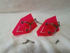 """2 - Luhr Jensen """"The Pink Lady"""" In-Line Trolling Sinker. """"Used"""" Good Condition"""