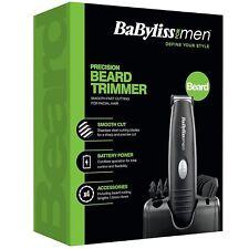 BaByliss Precision Men Beard Moustache Trimmer Battery Power Travel Grooming Kit