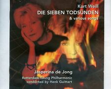 CD JASPERINA DE JONG die sieben todsünden & various songs KURT WEILL ex 2000