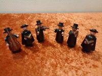 6 x Carolers Figures Erzgebirge - Vintage - Defective for Hobbyists