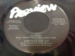 "Seatrain Pack of Fools Abbeville Fair 45 RPM 7"" Promo Preview Piranha Records"
