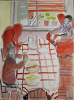 Robert Savary - Painting Original Signed - Lunch