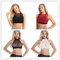 Fashion Womens Fishnet Crop Tops Vest Tank Top Ladies Sleeveless Blouse T-Shirts