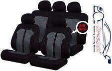 9 PCE Black & White Stitching Full Set of  Seat Covers for Honda Civic Accord Ja