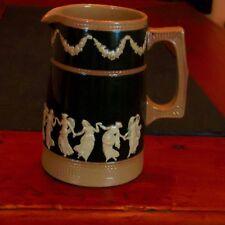 Copeland Spode 1892 Pitcher Jug Pottery Antique Dancing Hours Ladies