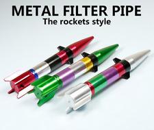 1PC Portable Metal Rocket Shape Smoking Pipe Tobacco Herb Filter Pipes New