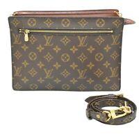 Louis Vuitton Enghien M51205 Monogram 2way Crossbody Second Clutch Bag Unisex LV