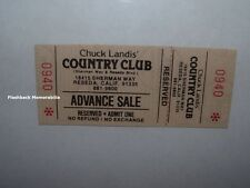 MIGHTY METAL VIDEO / MEDUSA 1984 Unused Concert Ticket RESEDA Country Club RARE