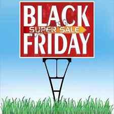 "18""X24""  BLACK FRIDAY SUPER SALE Outdoor Yard Sign & Stake Sidewalk Lawn Sales"