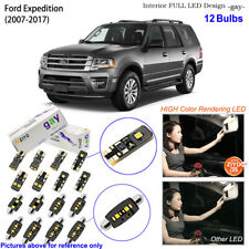 12 Bulbs Deluxe LED Interior Dome Light Kit White For 2007-2017 Ford Expedition