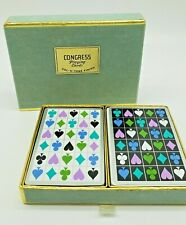 Vintage Congress Playing Cards Double Deck Designer Series Rare Funky Suits