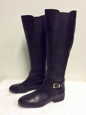 a0e848520a5 BRAND NEW VINCE CAMUTO BLACK LEATHER FLAT BOOTS SIZE UK 4 37 COST £210