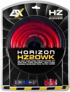 ESX HZ20WK Verstärker Anschluss Set Kabelsatz auf Basis 20 mm2 Endstufe Subwoofe