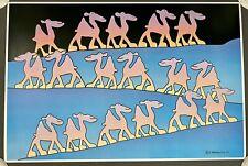 1981 Stewart Moskowitz Litho Art Print, Many Camels, 32 X 21.5, Never Framed