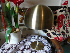 """STYLISH RETRO LOOK TABLE LAMP-BRASS COLOUR-16""""TALL-ROBUST-GOOD WORKING CONDITION"""
