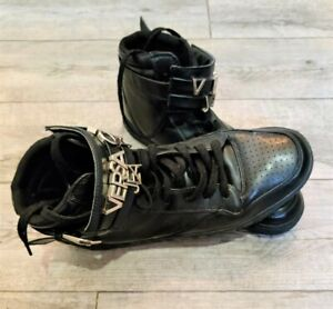 CHAUSSURE VERSACE JEANS HOMME/MONTANTE/BASKET/SNEAKERS/CUIR/NOIRARGENT