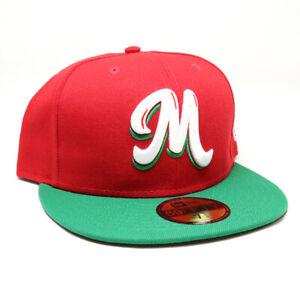 New Era Cap Cursiva Mexico 59FIFTY Fitted Hat Gorra Cerrada Green/Red