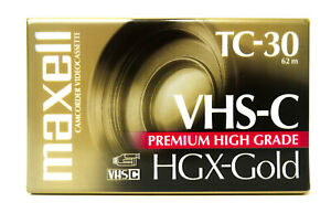 Maxell HGX-Gold TC-30 Premium High Grade VHS-C Tape