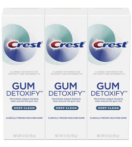 Crest Gum Detoxify Deep Clean Toothpaste 116g Pack of 3