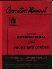 IHC Z-901 Front End Loader operators manual