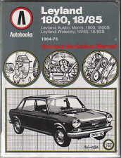 Austin Morris Leyland 1800 1800S Wolseley18/85 1964-75 Autobooks Manual 1976