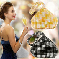 Womens Evening Bags Diamante Clutch Bag Ladies Wedding Party Prom Handbag Purse