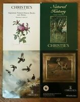 CHRISTIE'S Wildlife Art Natural History Catalogs Lot of 4 Christie's London