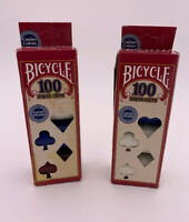 Bicycle Poker Chips - 100 count with 3 colors - Lot Of 2 Boxes - NEW NIOB NOS
