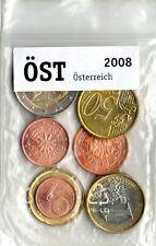 Eurosatz Komplettsatz Österreich 2008 Münzen