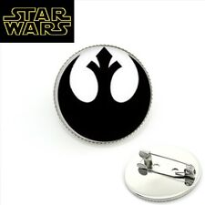 STAR WARS REBEL ALLIANCE Logo Metal Pin Globe  prop badge darth vader cosplay