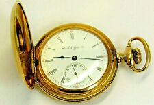 Elgin Double Hunter Gold Filled Antique Pocket Watch Manual Wind 1900's