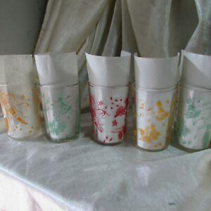 5 VINTAGE SWANKY SWIG PROMOTION PARTY TUMBLER GLASSES