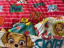 PreOwned Paw Patrol Twin Girls Bedding Set Comforter Sheets Pillowcase Syke