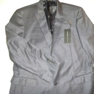 andrew marc NY mens two button wool sports coat blazer suit jacket-42R-navy blue