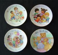 """4 Avon Exclusive 5"""" Mothers Day Collector Plates 22K Gold~1991 1992 1994 1996"""