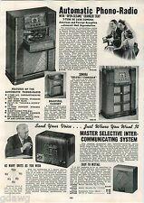 1942 ADVERT 4 PG Sonora Radio Phonograph Record Player