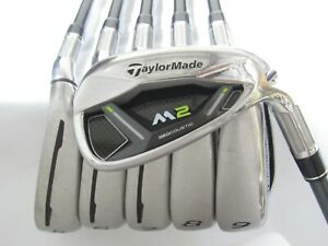 Used RH TaylorMade M2 17 Iron Set 5-P Regular Flex Graphite Shafts