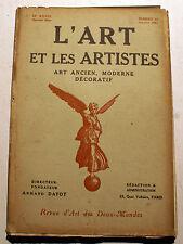 ART DECO/L'ART ET LES ARTISTES/1921/N°13  /POUSSIN/H.MARTIN/E.WITTIG/
