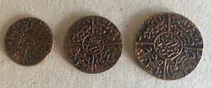 1334 Year 5 Saudi Arabia Hejaz Set ¼ ½ 1 Qirsh Bronze Coin Hussein Ben Ali