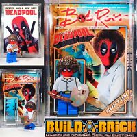Deadpool Ross Custom Mini Action Figure w Display Case Card Stand Mini-figure 75