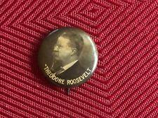 RARE Profile Theodore Roosevelt Political Campaign Pinback Button Whitehead