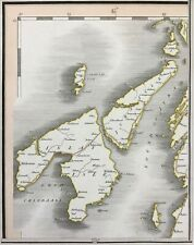 UK Hebrides 1822 Scotland Jura Islay Colonsay isles Inner, by Cary antique map