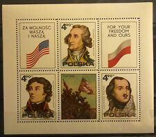 POLAND STAMPS MNH Fibl52 Sc2122 Mibl63 block - Independence of USA, 1975, **