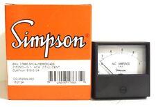 SIMPSON AC AMP METER 2152 0-1 AMP CAT #: 17665 **NEW**